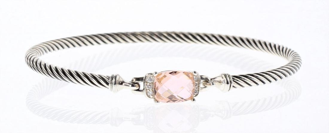 David Yurman Sterling Silver Petite Wheaton Morganite