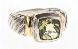 David Yurman Sterling Silver & 14K Gold Vintage Lemon