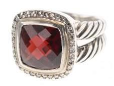 David Yurman Sterling Silver Vintage Albion Diamond