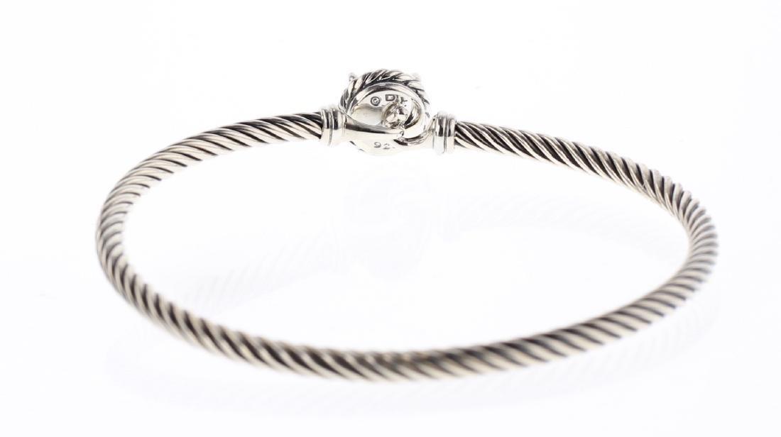 David Yurman Sterling Silver Chatelaine Pearl Bracelet - 3