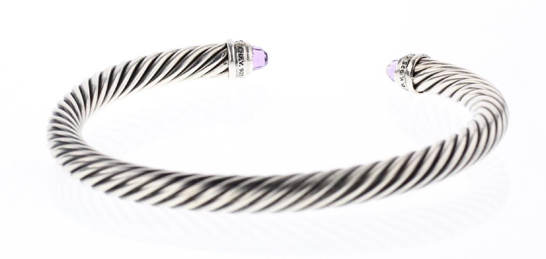 David Yurman Sterling Silver & 14K Gold Amethyst Cable - 2