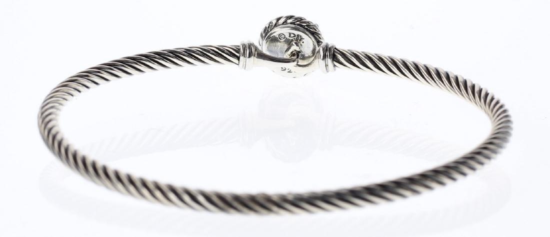 David Yurman Sterling Silver Amethyst Clasp Cable - 2