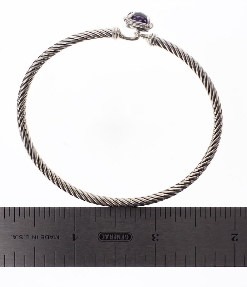 David Yurman Sterling Silver Amethyst Clasp Cable - 3