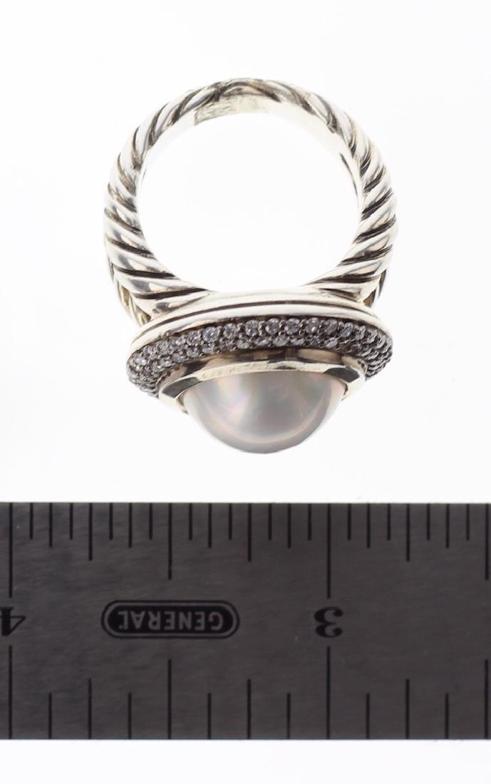 David Yurman Sterling Silver Vintage Diamond & Pearl - 3