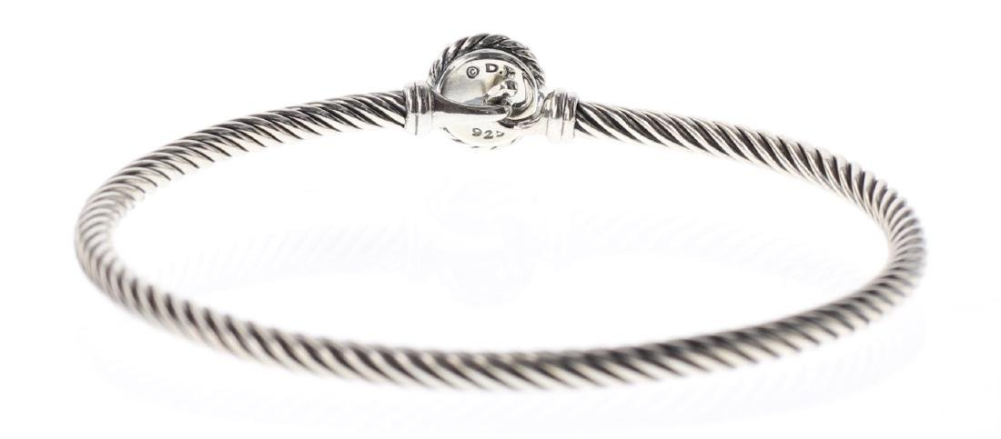 David Yurman Sterling Silver Citrine Cable Buckle - 2