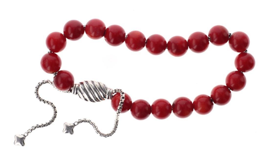 David Yurman Sterling Silver Cornelian Spiritual Beads