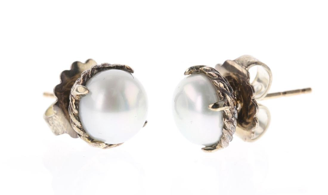 David Yurman Sterling Silver Vintage Chatelaine Pearl