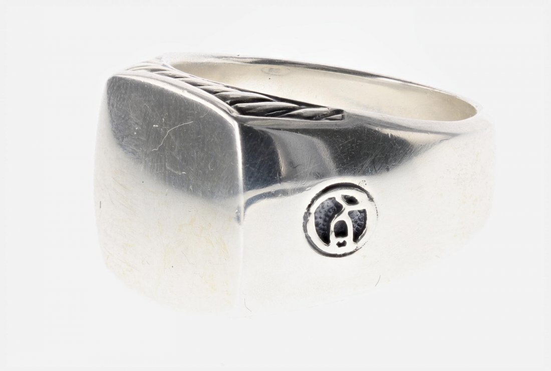 David Yurman Sterling Silver Men's Ring