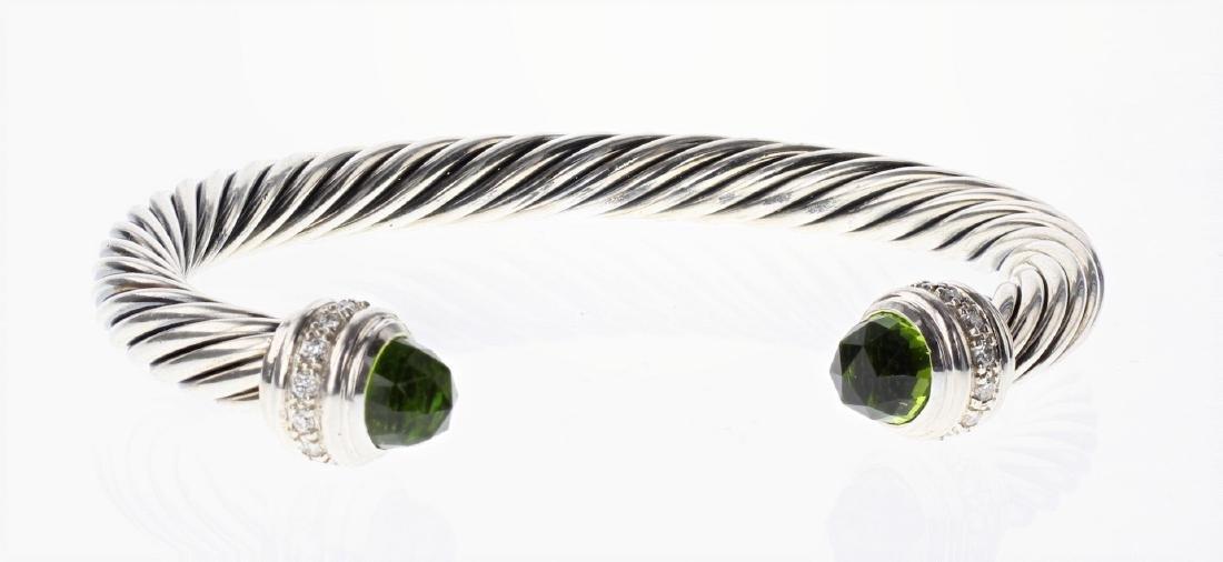 David Yurman Sterling Silver Peridot & Diamonds Classic