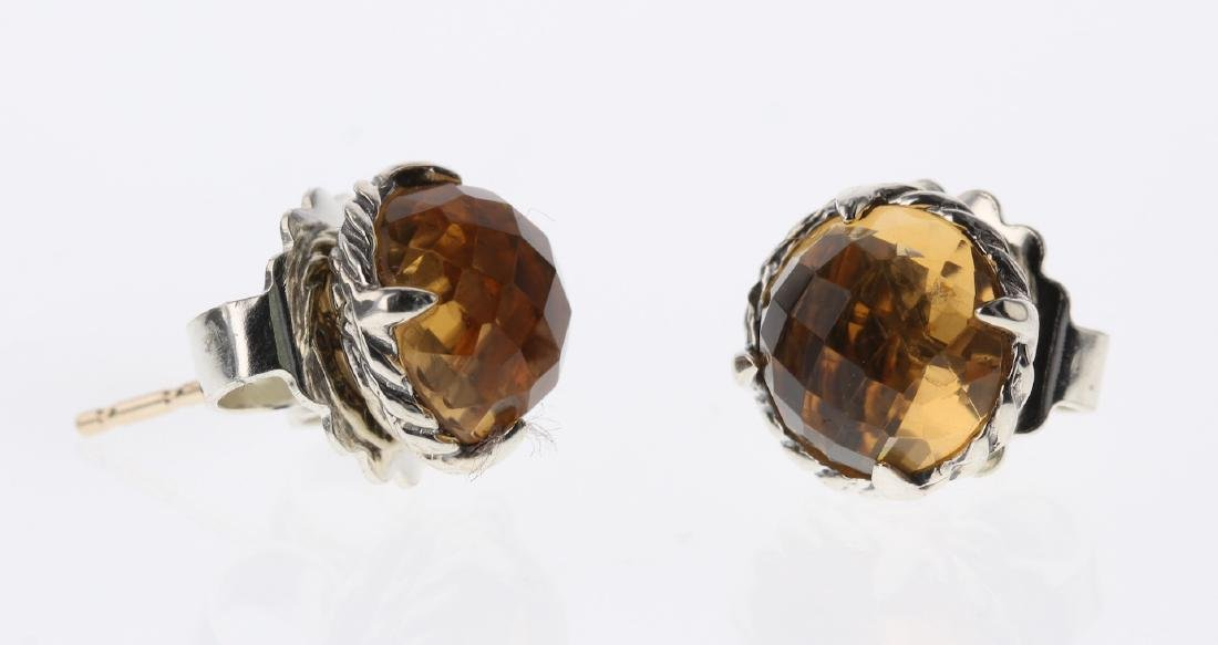 David Yurman Sterling Silver Vintage Citrine Earrings