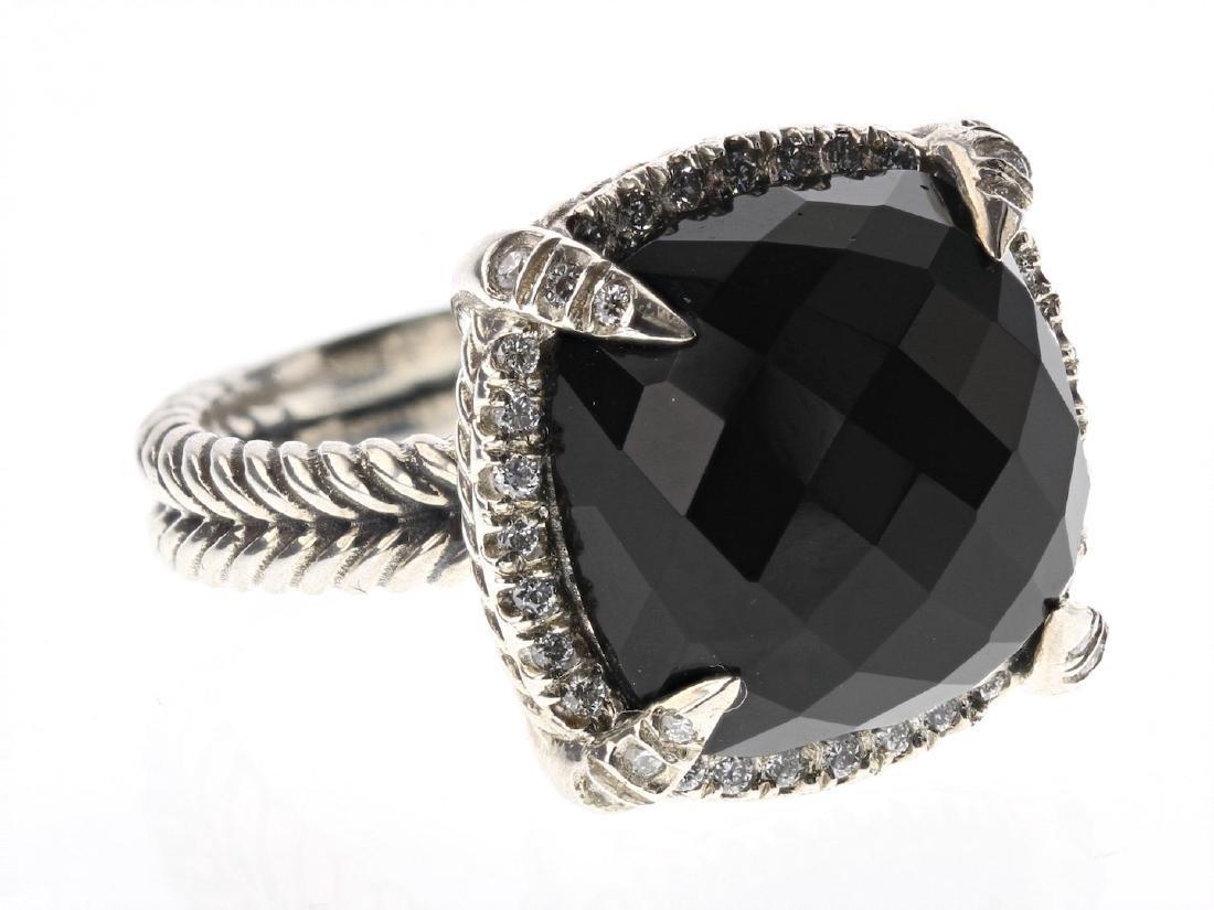 David Yurman Sterling Silver Vintage Chatelaine Diamond