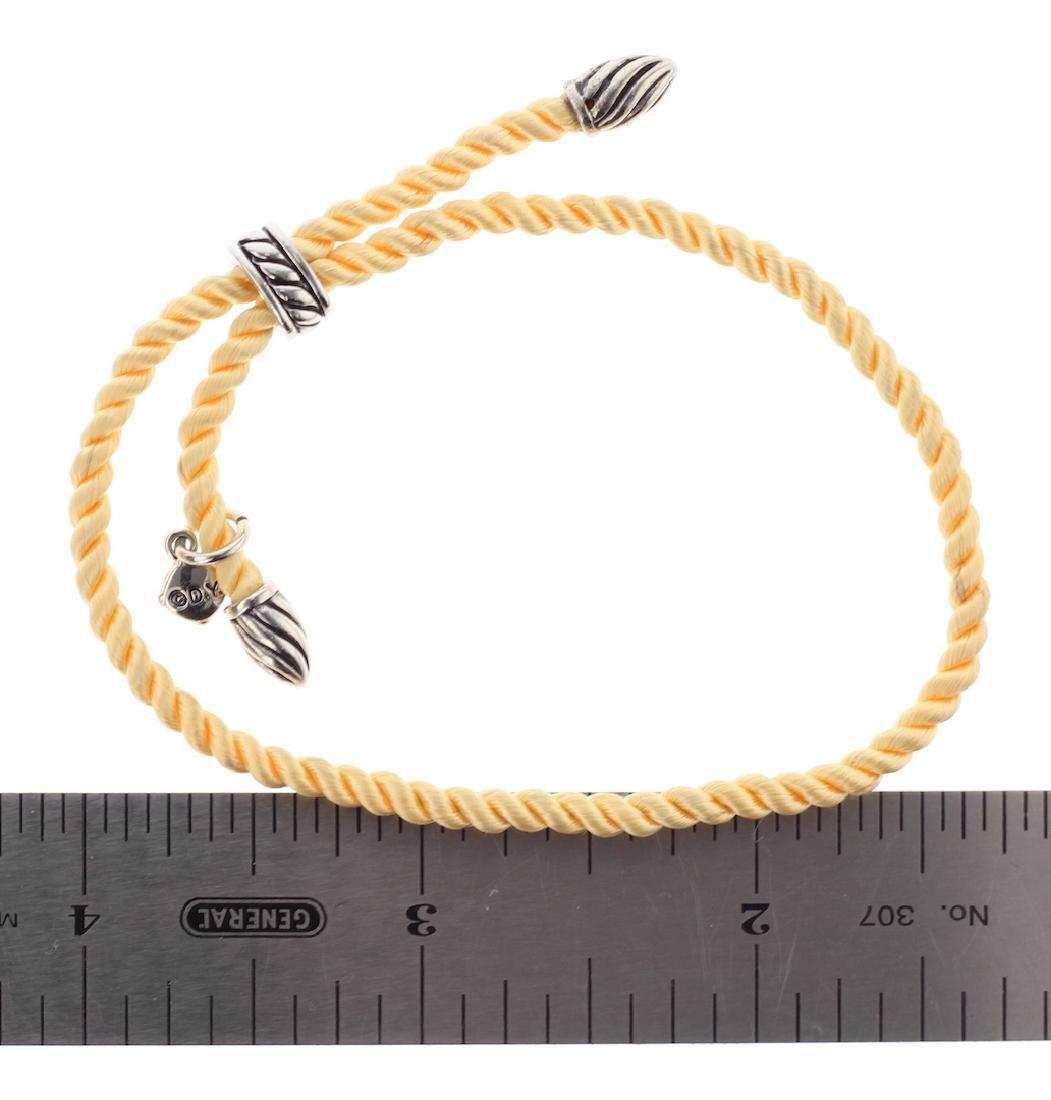 David Yurman Sterling Silver Silk Cord Bracelet - 2