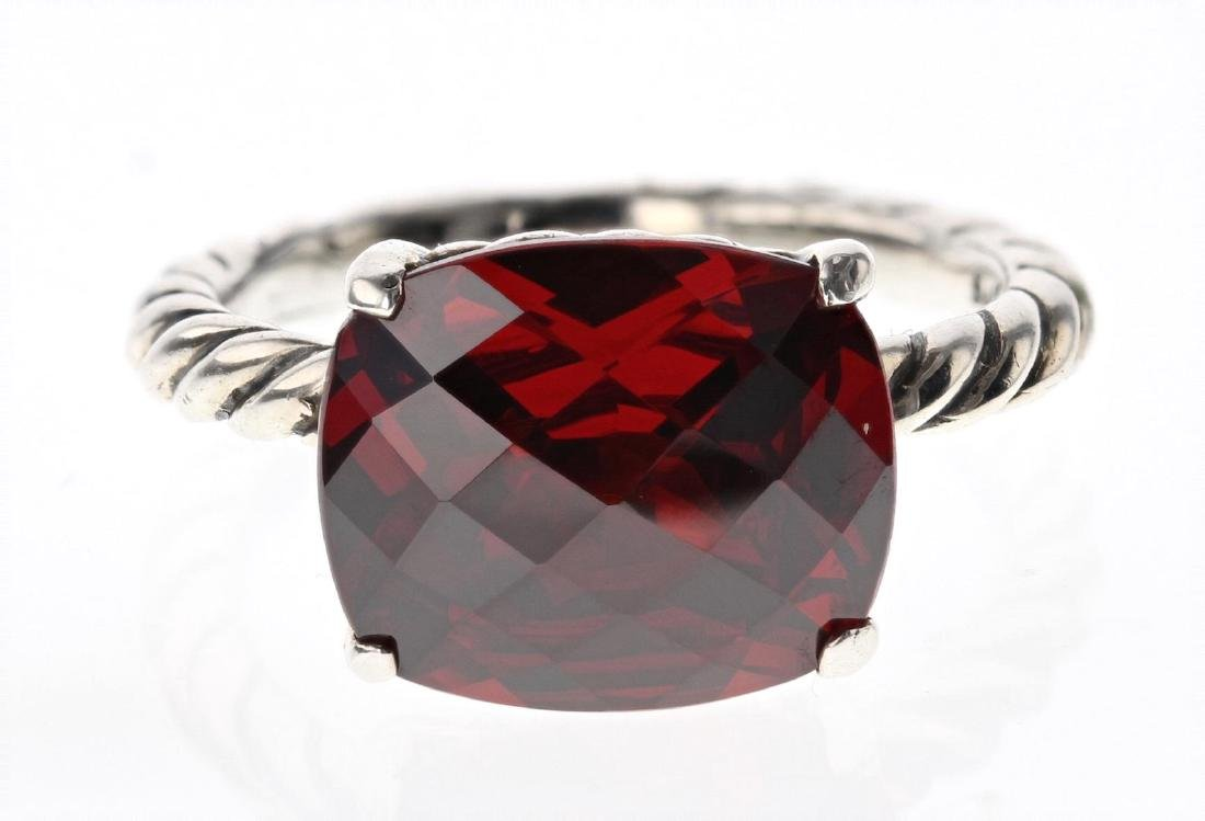 David Yurman  Sterling Silver Color Classic Red Garnet