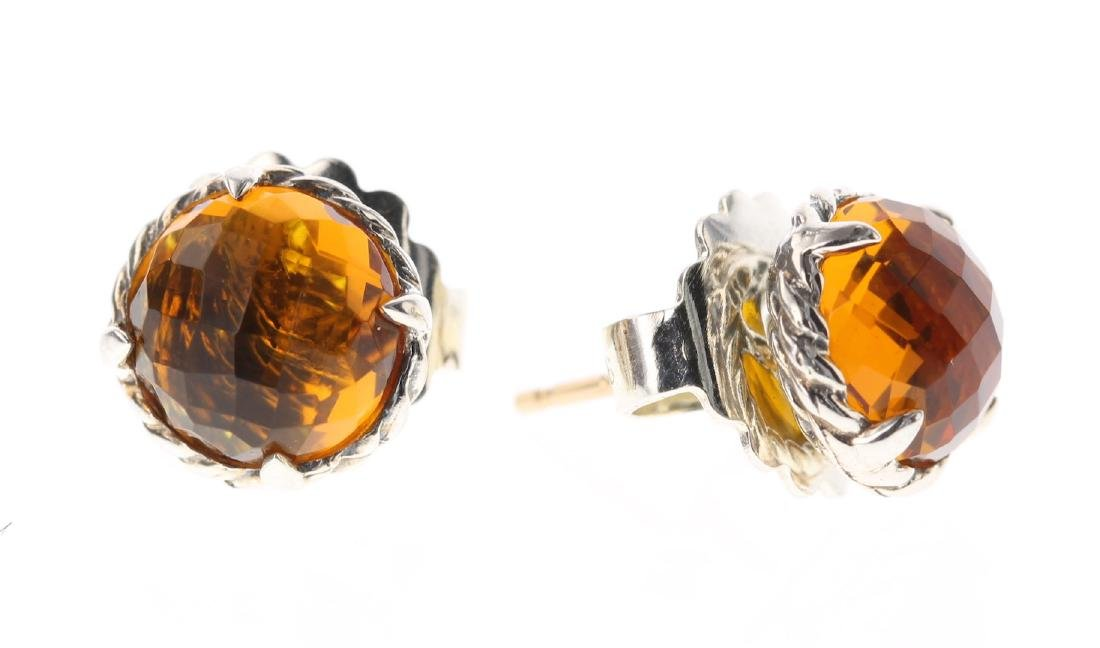 David Yurman Sterling Silver Vintage Madeira Citrine