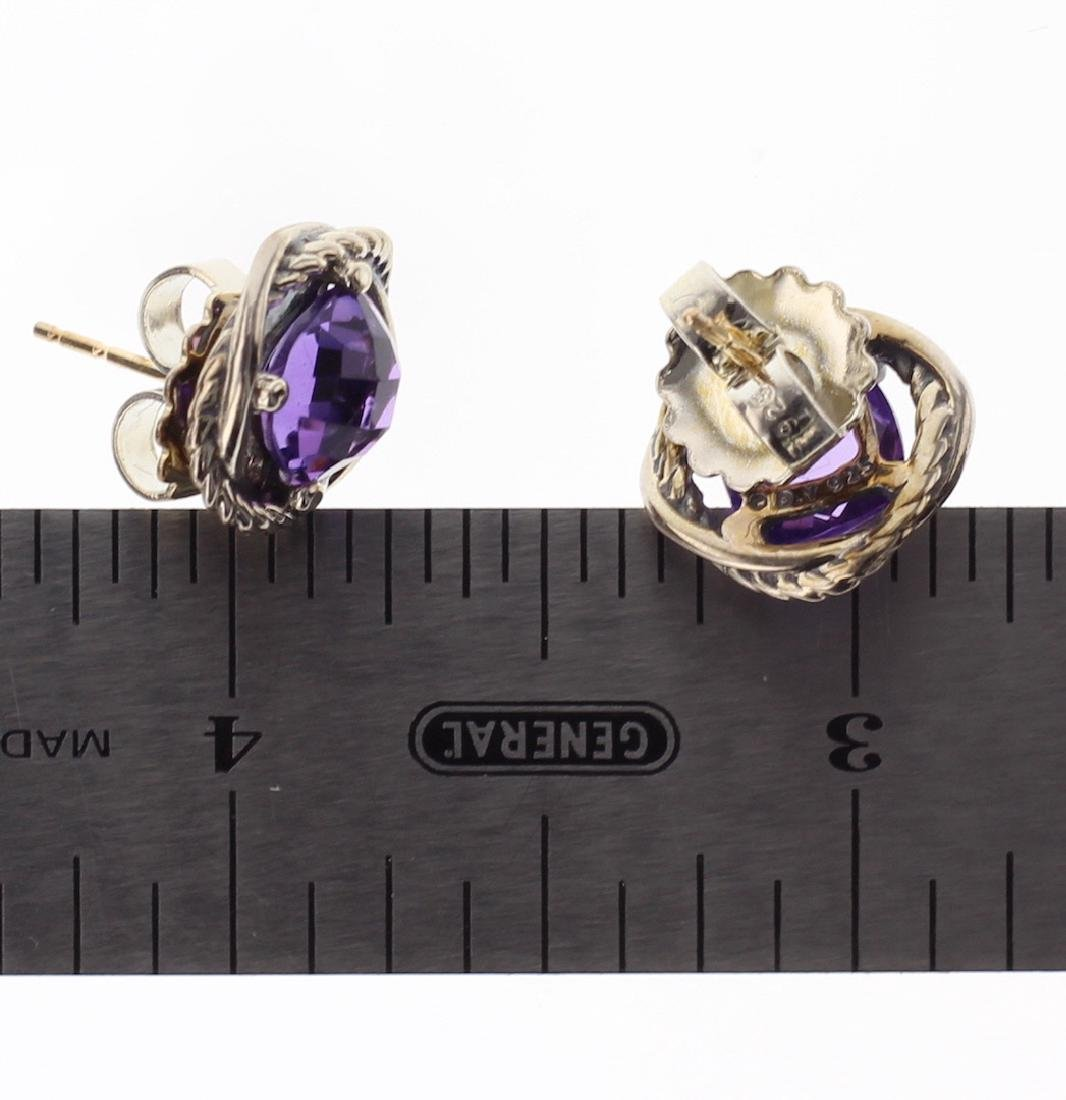 David Yurman Sterling Silver Vintage Amethyst Infinity - 2