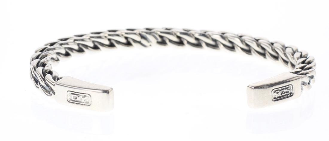 David Yurman Sterling Silver Men's Chain Bracelet - 3