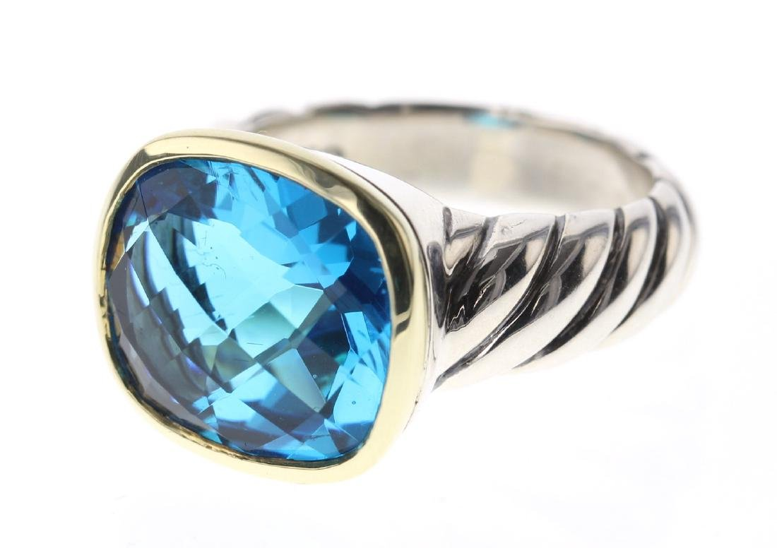 David Yurman Sterling Silver & 18K Gold Noblesse Blue