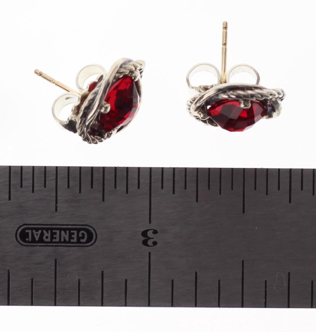David Yurman Sterling Silver Vintage Infinity Red - 2