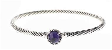 David Yurman Sterling Silver Amethyst Bracelet