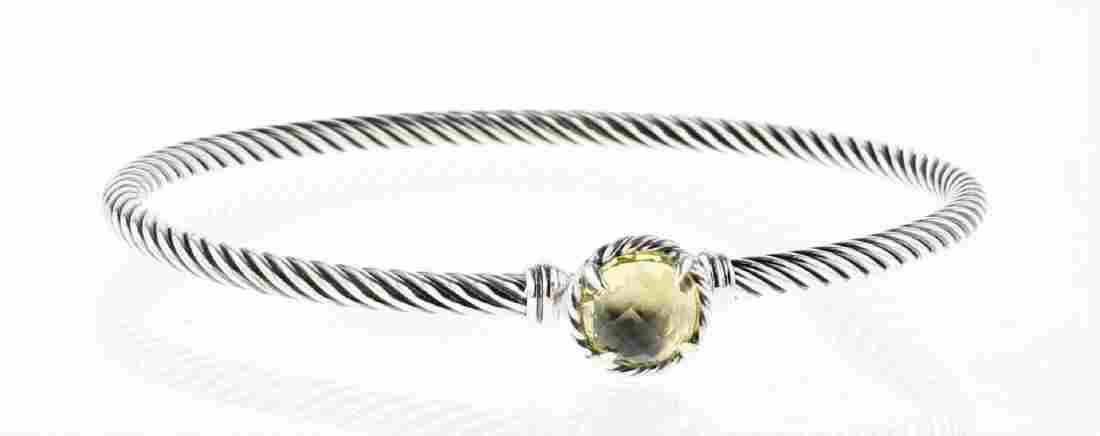 David Yurman Sterling Silver Chatelaine Lemon Citrine