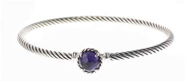 David Yurman Sterling Silver Black Orchid Ladies Cable