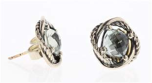 David Yurman Sterling Silver Vintage Prasiolite