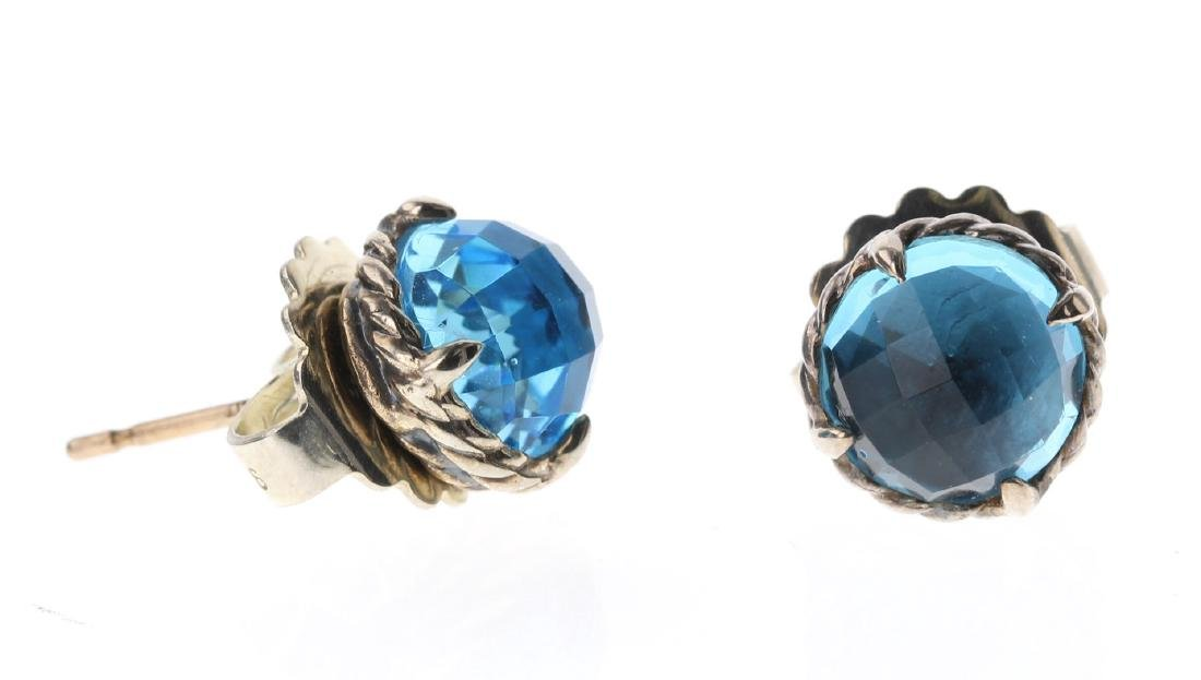 David Yurman Sterling Silver Vintage London Blue Topaz