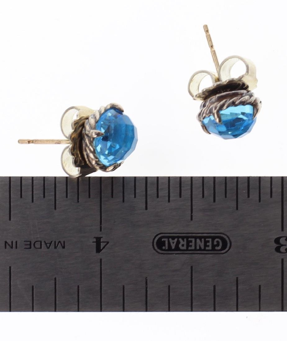 David Yurman Sterling Silver Vintage London Blue Topaz - 2