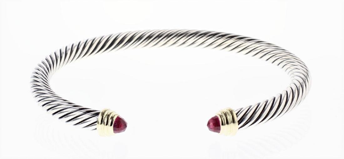 David Yurman Sterling Silver & 14K Gold Tourmaline