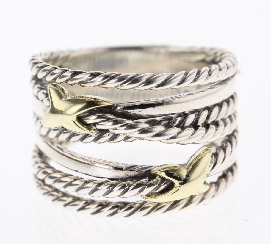 David Yurman Sterling Silver & 18K Gold Double