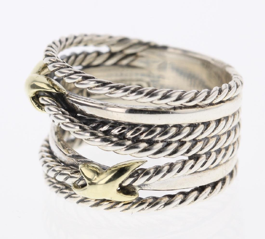 David Yurman Sterling Silver & 18K Gold Double - 2