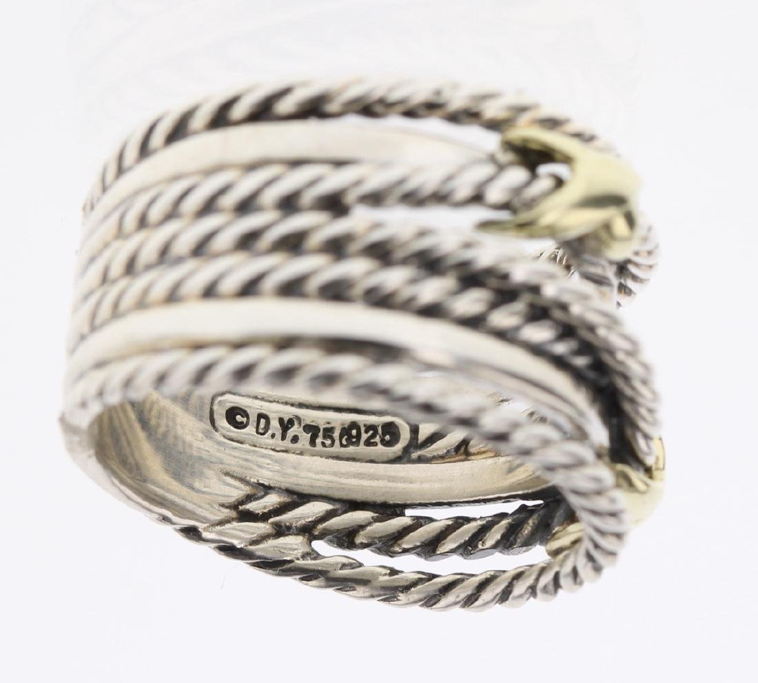 David Yurman Sterling Silver & 18K Gold Double - 3