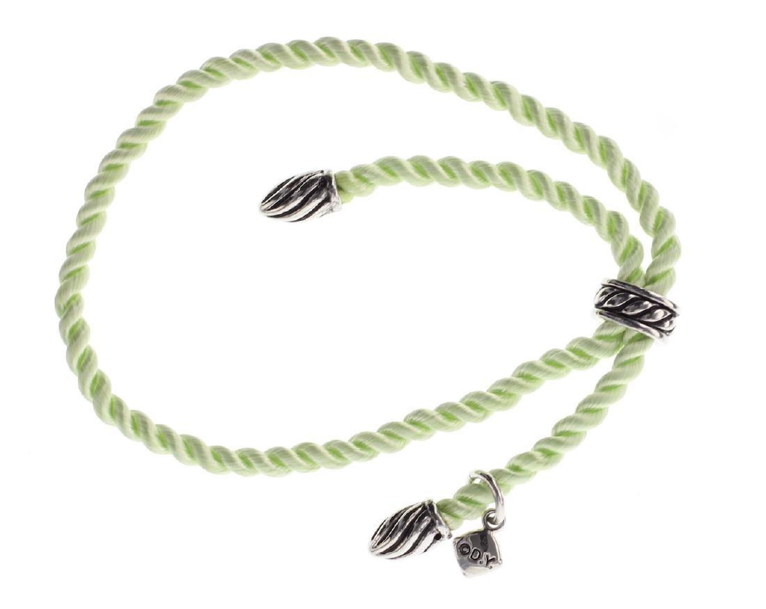 David Yurman Sterling Silver Silk Cord Bracelet