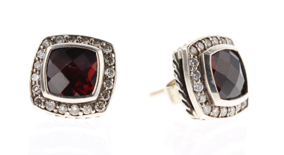 David Yurman Sterling Silver Albion Garnet & Diamond