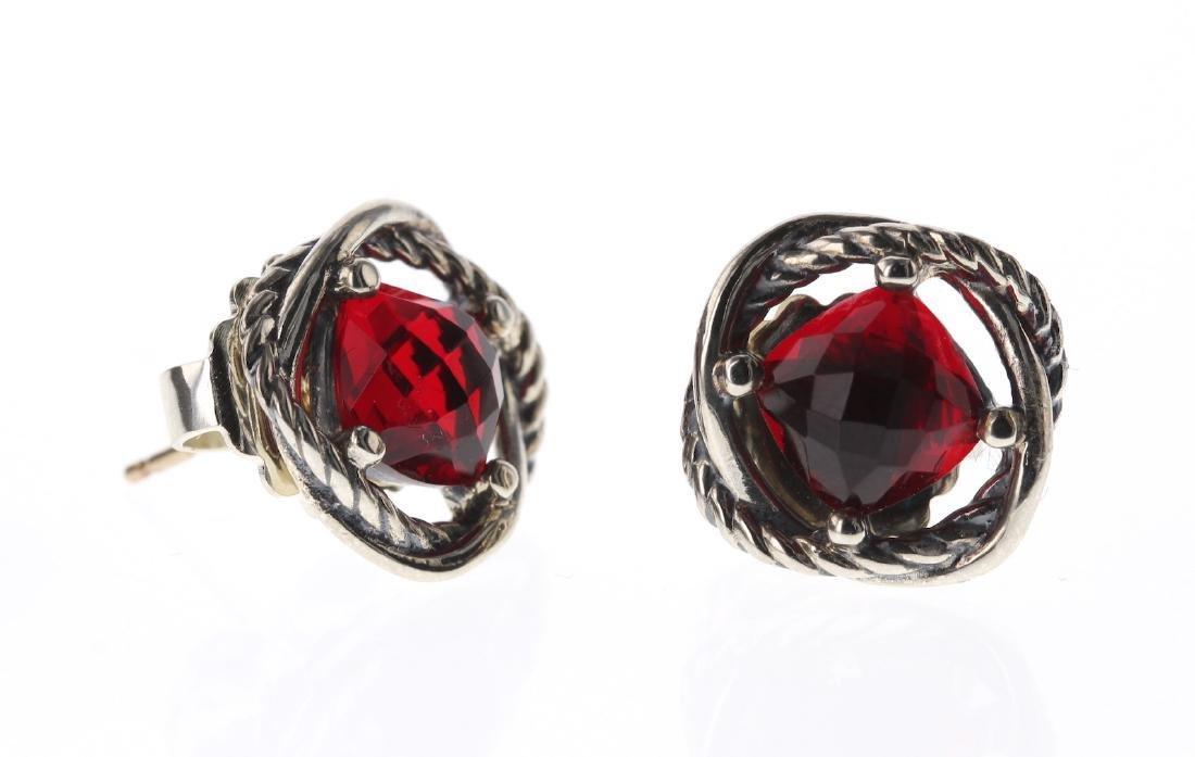 David Yurman Sterling Silver Vintage Red Garnett
