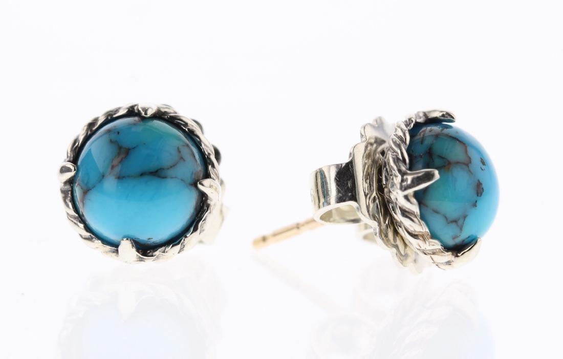 David Yurman Sterling Silver Turquoise Chatelaine