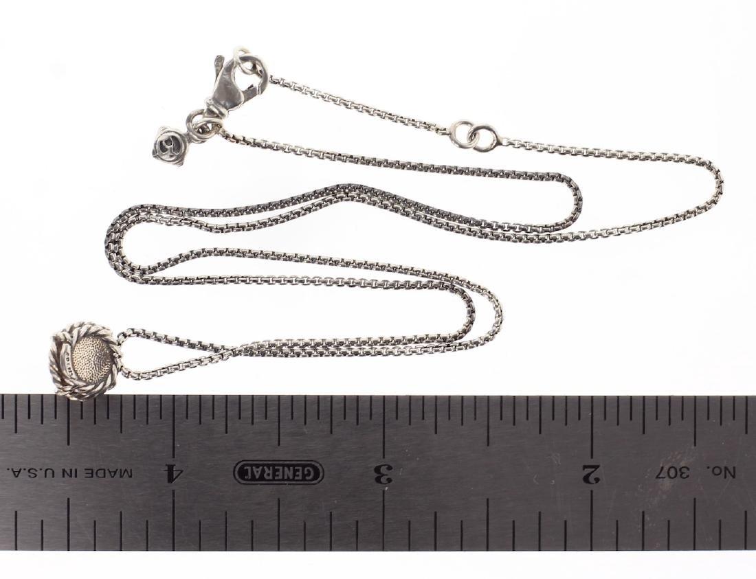 David Yurman Sterling Silver Amethyst Chain & Pendant - 2