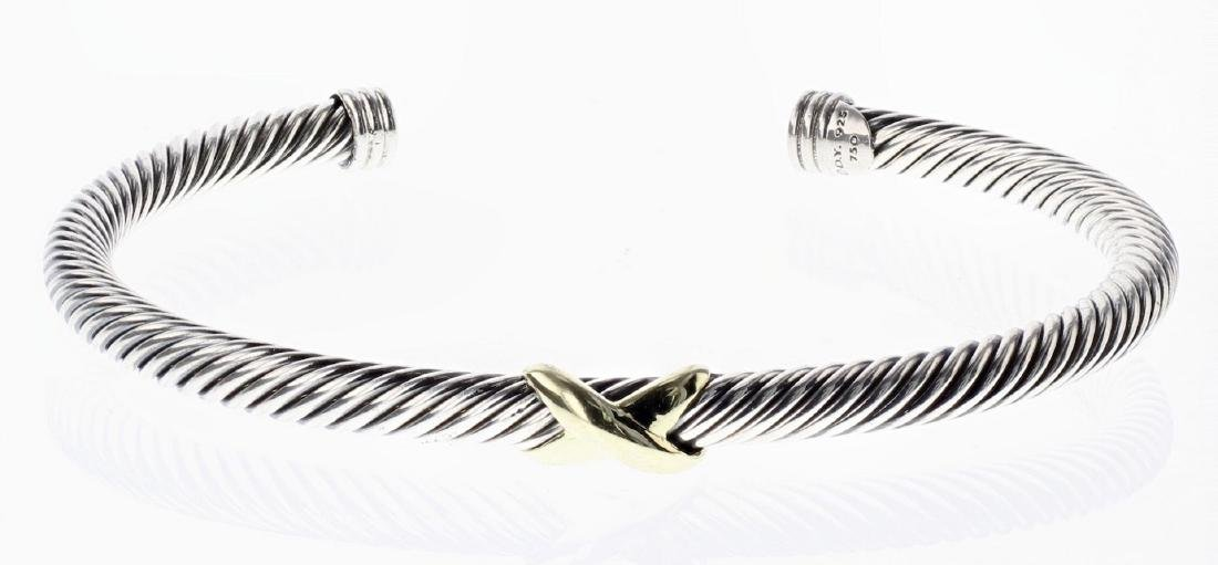 David Yurman Sterling Silver & 18K Gold Cable Classic