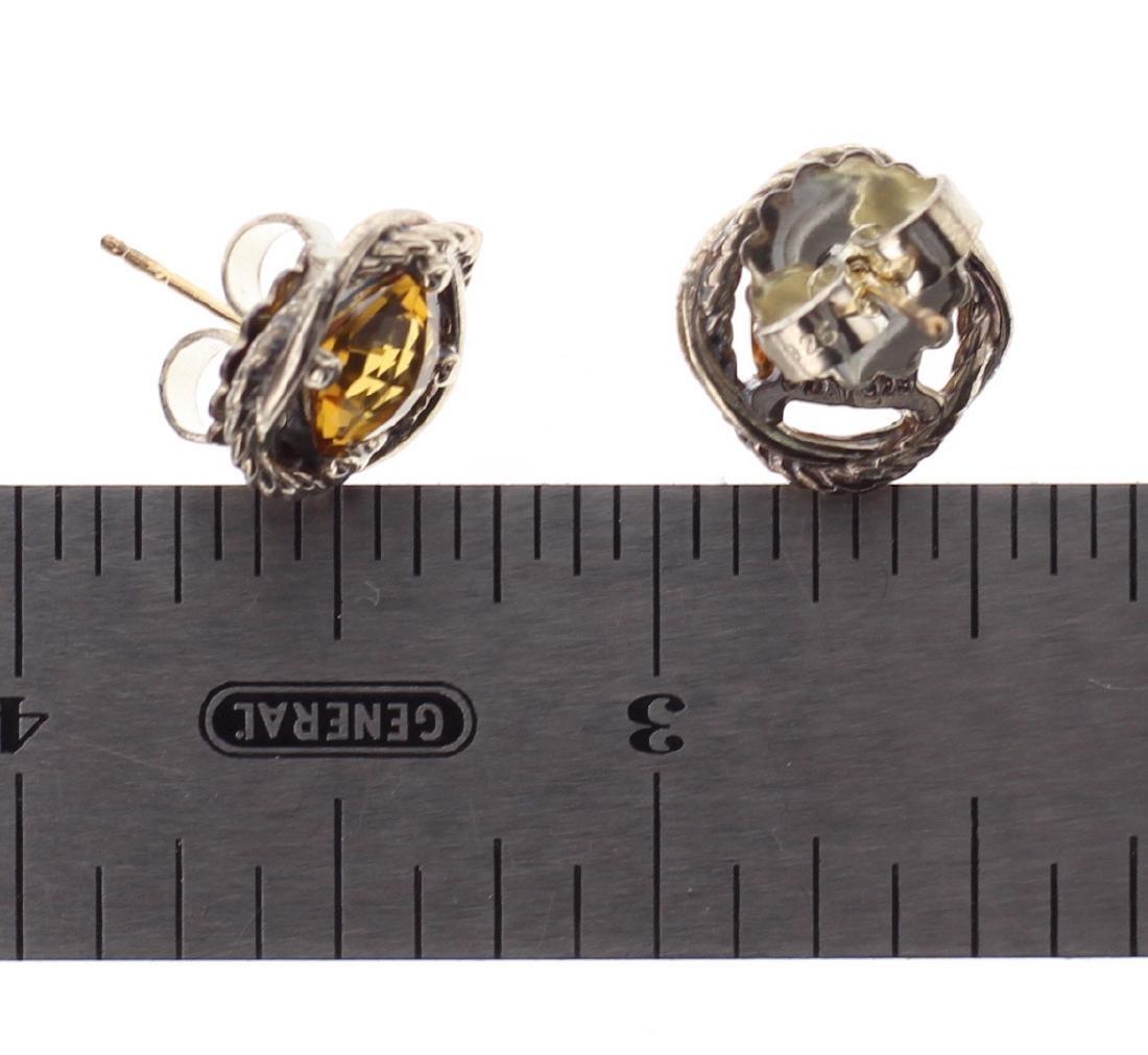 David Yurman Sterling Silver Vintage Citrine Earrings - 2