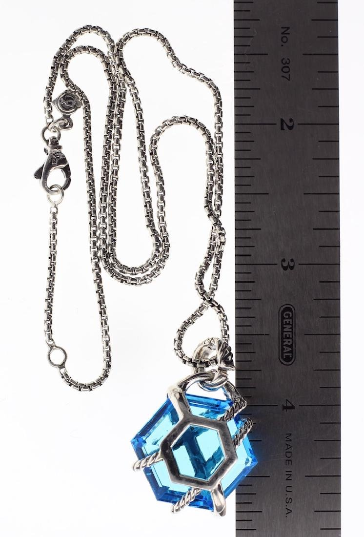David Yurman Sterling Silver Blue Topaz & Diamonds - 2