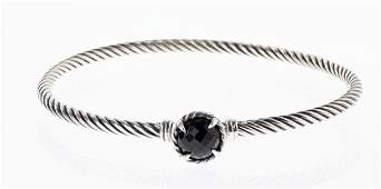 David Yurman Sterling Silver Black Onyx Classic Cable