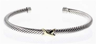 David Yurman Sterling Silver  18K Gold Cable Classic