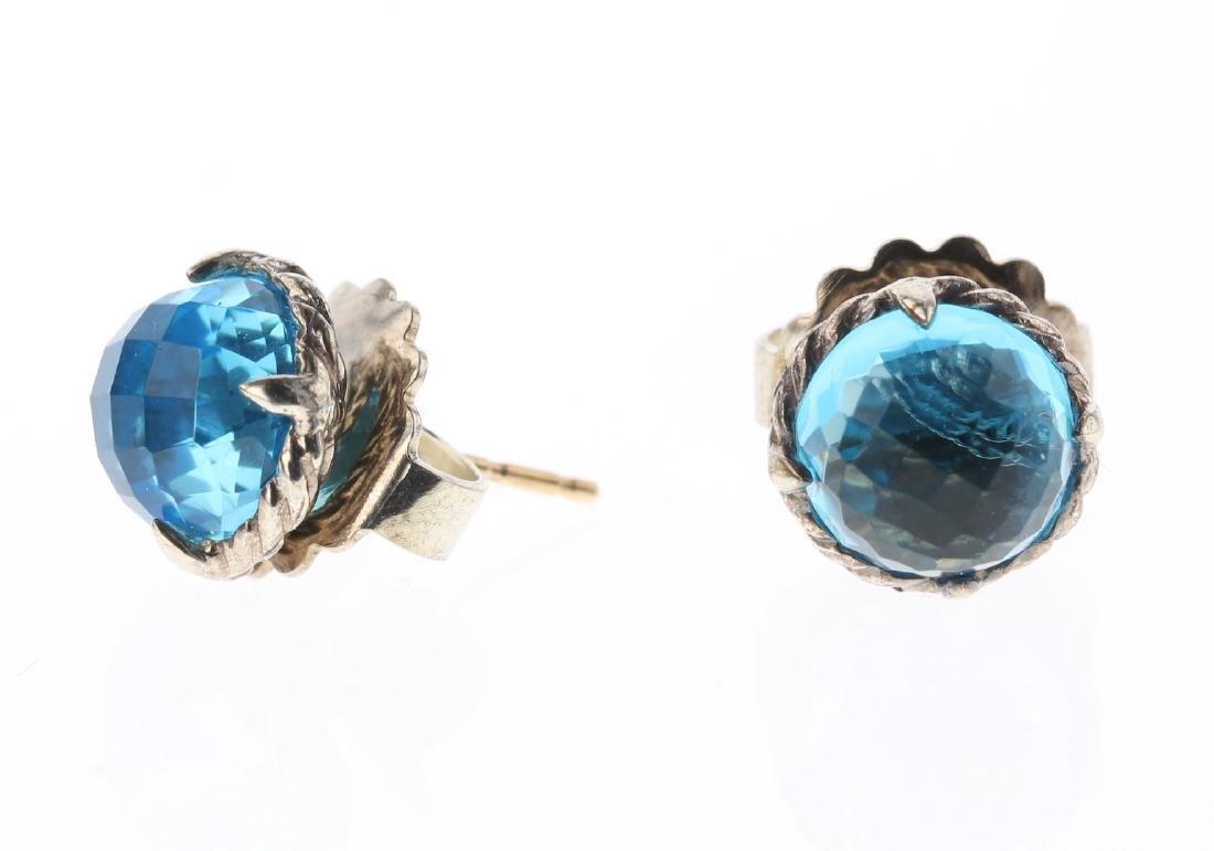 David Yurman Sterling Silver Blue Topaz Vintage