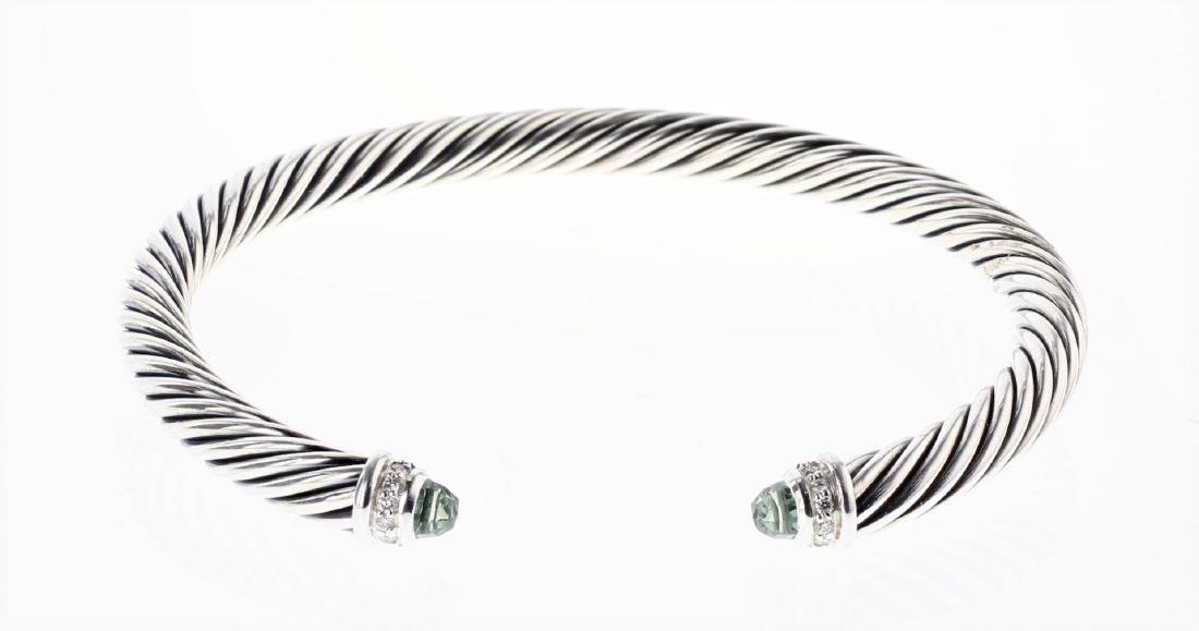 David Yurman Sterling Silver Prasiolite & Diamonds