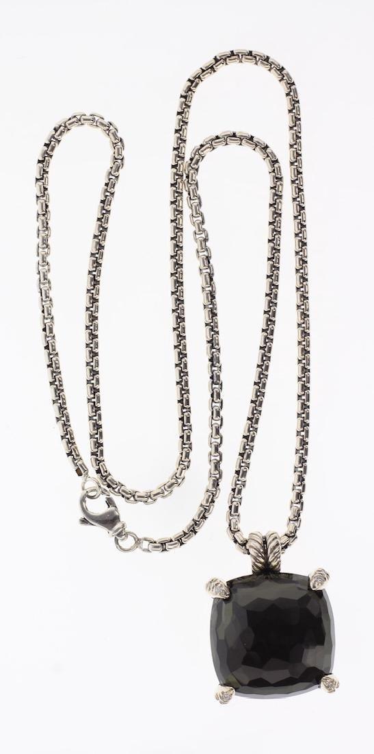 David Yurman Sterling Silver Black Orchid & Diamonds