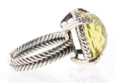 David Yurman Sterling Silver Vintage Lemon Citrine