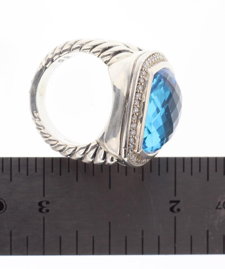 David Yurman Sterling Silver Large Albion Blue Topaz & - 2