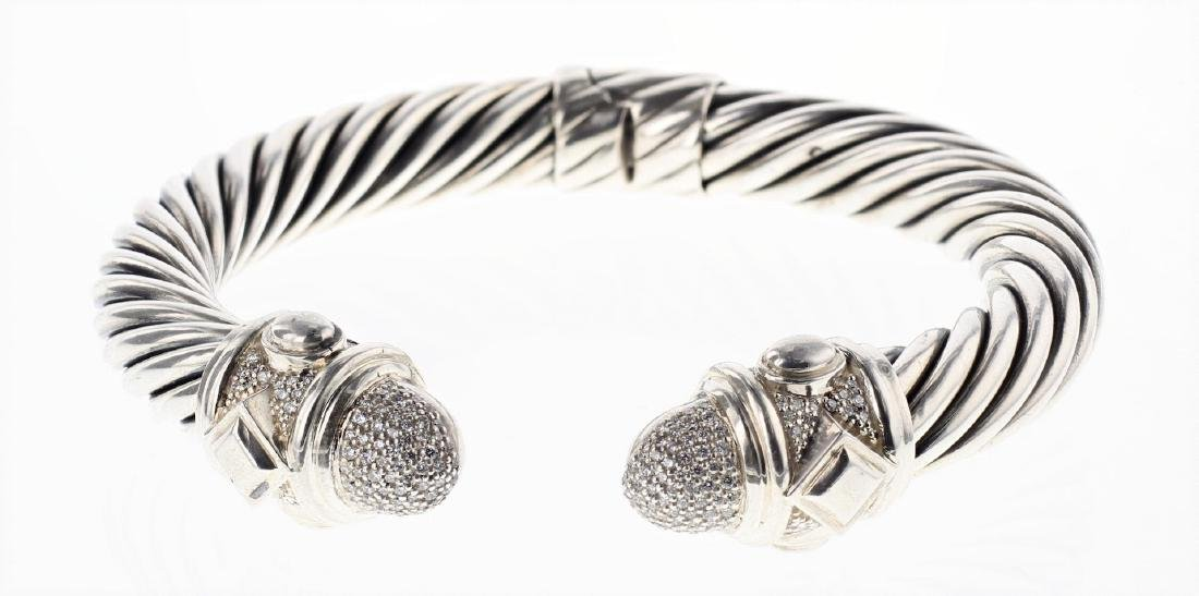 David Yurman Sterling Silver Renaissance Diamonds
