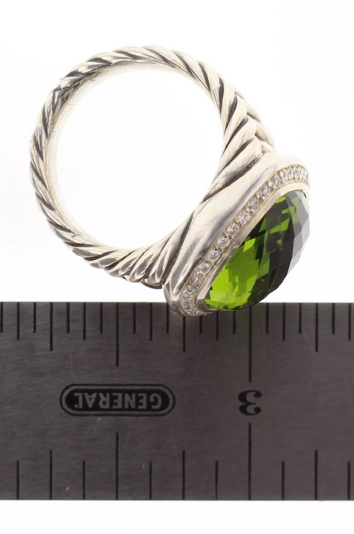 David Yurman Sterling Silver Peridot & Diamonds Classic - 2