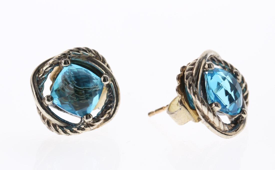 David Yurman Sterling Silver Vintage Blue Topaz